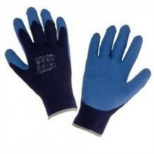 LAHTI PRO Rękawice ochronne ocieplane powlekane lateksem niebieskie rozmiar 11 L250111K LPL250111K