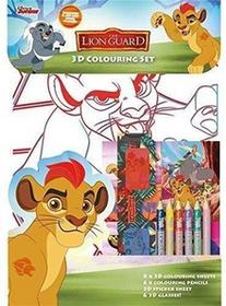 Copywrite Designs Lwia straż. Kolorowanka + naklejki 3D
