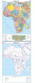 Afryka mapa ścienna dwustronna polityczna - konturowa 1:8 000 000 Nowa Era