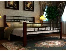 vidaXL Metalowe łóżko z materacem 140 x 200 cm - czerń / brąz