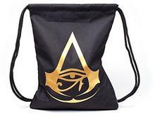 Assassin's Creed Origins Drawstring Bag logo Gym Bag Black BIO-CI638076ASC