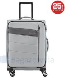 Travelite Mała kabinowa walizka KITE 89947-56 Srebrna - srebrny
