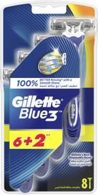 Gillette Jednorazowe maszynki do golenia, 6+2 szt. - Blue III Jednorazowe maszynki do golenia, 6+2 szt. - Blue III
