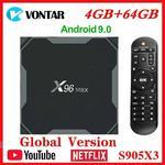 Amlogic S905X3 Android 9.0 TV, pudełko X96Max plus 8K inteligentny odtwarzacz multimedialny 4GB RAM