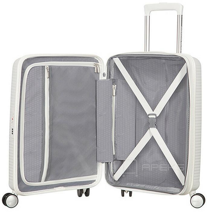 641a7eea62e0b ... American Tourister Soundbox Spinner 55 EXP mała walizka kabinowa z  poszerzeniem 32G 05 001 ...