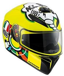 AGV K3 Sv Misano 2001 Valentino Rossi kask motocyklowy, żółty 210301A0EY_006_ML