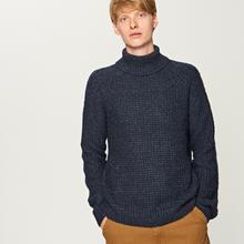 Reserved Sweter z golfem - Granatowy