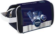 Nivea Men Protect & Care Zestaw Nawilżająca pianka do golenia + Dezodorant w kulce + Nawilżający balsam po goleniu + Krem + Kosmetyczka
