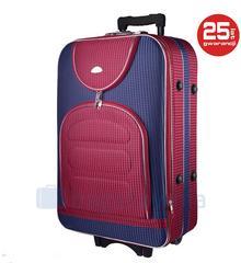 PELLUCCI Duża walizka PELLUCCI 801 L - Granatowo / Czerwona Kratka - czerwony /granatowy