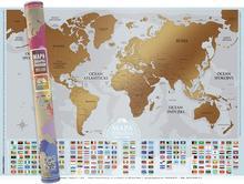Mapa zdrapka Flagi
