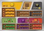 Rebel Terraformacja Marsa - Zestaw 5 plansz graczy (z wycięciami)