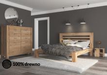 Woodica Łóżko dębowe Syringa 05 120x200 Syringa/Łóż/05-120--200