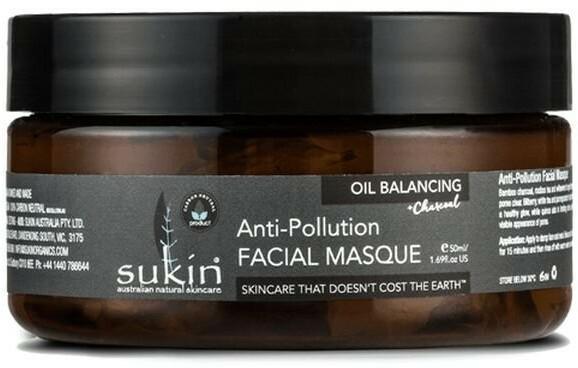Sukin Oil Balancing, oczyszczająca maska z aktywnym węglem, 50 ml