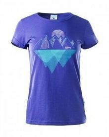 ELBRUS Koszulka damska AGULITA rozmiar M kolor niebieski