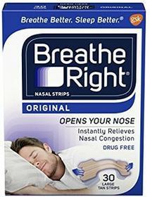 Breathe Right Large Tan Nasal Strips 30CT z USA 100373