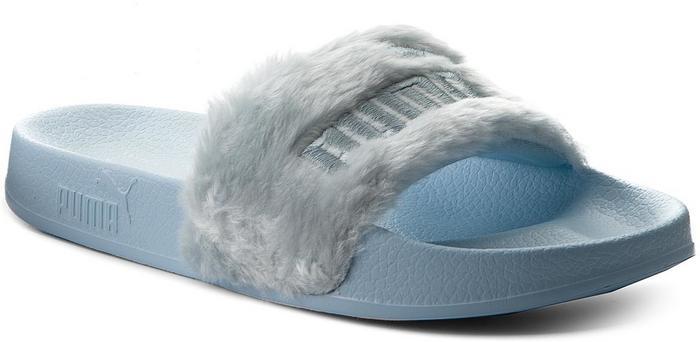 8e0714b87401b Puma Klapki Fur Slide 365772 03 Cool Blue Silver - Ceny i opinie na  Skapiec.pl