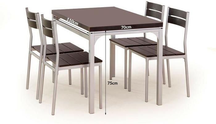 Halmar Stół kuchenny Malcolm + 4 krzesła wenge