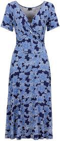 Bonprix Sukienka dżersejowa niebiesko-jasnoniebieski z nadrukiem