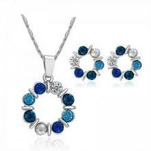 Durango Komplet z kolczykami Laur , niebieski 06A8-64057