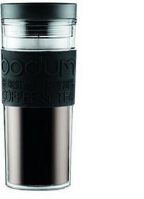 Bodum 11685-01 kubek podróżny, 0,45 l, tworzywo sztuczne, 8 x 8 x 20,8 cm, czarna osłonka 11685-01