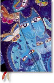 Paperblanks Hartley&Marks Publishers Ltd kalendarz książkowy 2018, Blue Cats & Butterflies Midi