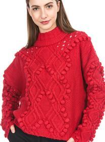 Guess Sweter Czerwony XS (201347)