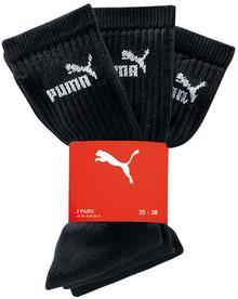 Bonprix Skarpety sportowe Puma (3 pary) czarny