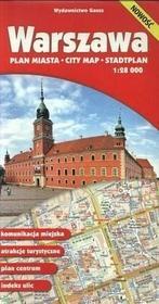 GAUSS Warszawa - plan miasta (skala: 1:28 000) - Opracowanie zbiorowe