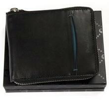 Pierre Cardin Zasuwany portfel męski skórzany TILAK 07 8818 niebieski TILAK 07 8818 niebieski