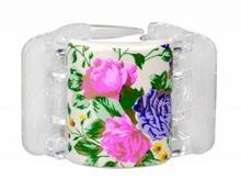 Linziclip Linziclip Midi spinka do włosów 1 szt dla kobiet White Pearl Flowers 54190