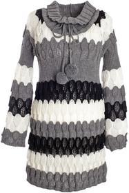 Bonprix Długi sweter w paski