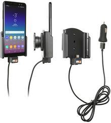 Brodit AB Uchwyt do Samsung Galaxy A8 z wbudowanym kablem USB oraz ładowarką samochodową. 721035