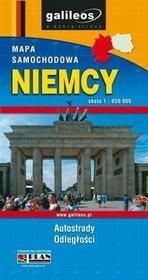 Niemcy mapa samochodowa 1:650 000 - Wysyłka od 3,99