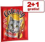 Catessy 2 + 1 gratis! Catessy Sticks Bar-B-Q 30 szt Bar-B-Q z indykiem 3 x 10 sztuk
