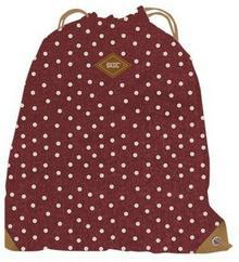 Worko-plecak Basic groszki bordowy -