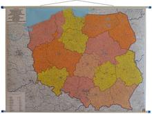 Polska mapa ścienna kody pocztowe 1: 700 000 Freytag & Berndt Freytag&Berndt
