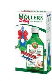 ORKLA HEALTH Mollers Baby tran norweski o aromacie naturalnym 250 ml + Jordan szczoteczka do zębów GRATIS !