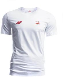 4F Koszulka męska Polska Pyeongchang 2018 TSM900R biały [S4Z17-TSM900R] TSM900R biały