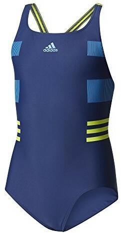 e3d27f19a Adidas Occ Swim kostium kąpielowy dla dziewcząt, z materiału Infinitex,  niebieski, 92 BS0236