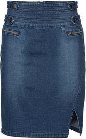 Bonprix Spódnica dżinsowa ze stretchem niebieski