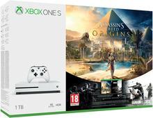 Microsoft Xbox One S 1 TB Biały + Assassins Creed Origins + R6 Siege