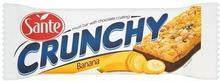 SANTE Baton zbożowy Crunchy musli z dodatkiem bananów podlany czekoladą 40 g Sante