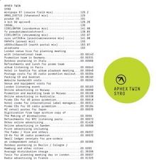 Syro CD) Aphex Twin
