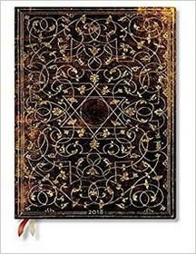 Paperblanks Kalendarz książkowy ultra 2018 12M horyzontalny Grolier