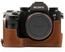 """MegaGear megagear \""""zawsze gotowa"""" prawdziwej skóry torba na aparat do Sony Alpha A9Half-Bottom pokrowiec ochronnywytrzymały, odporność na zarysowania i uderzenia MG1244"""