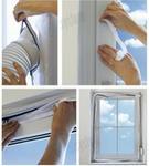 Opinie o SICHLER Uszczelka, wypełnienie, uszczelnienie okna do przenośnych klimatyzatorów. Airlock, Air lock, Sichler. Uszczelka Sichler