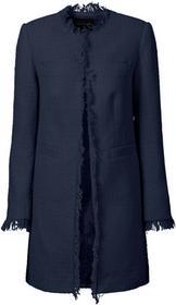 Bonprix Płaszcz boucle ciemnoniebieski