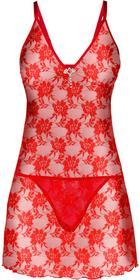Bonprix Koszulka nocna + stringi (2 części) czerwony