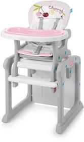 Baby Design Candy krzesełko do karmienia 2w1 różowe 08 wiśnia wysyłka 24h Enova33545