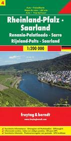 Freytag&Berndt Niemcy część 4 Nadrenia-Kraj Saary mapa 1:200 000 Freytag & Berndt